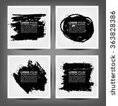 marker stains. grunge banners.    Shutterstock .eps vector #363828386