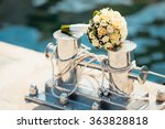 wedding bouquet with roses on...   Shutterstock . vector #363828818