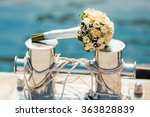 wedding bouquet with roses on... | Shutterstock . vector #363828839