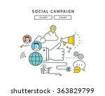 simple line flat design of web... | Shutterstock .eps vector #363829799