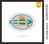 cut fish on plate | Shutterstock .eps vector #363834530