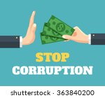 stop corruption. vector flat...