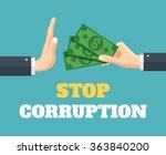 stop corruption. vector flat... | Shutterstock .eps vector #363840200