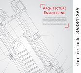 vector technical blueprint of ... | Shutterstock .eps vector #363842369