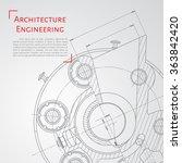 vector technical blueprint of ... | Shutterstock .eps vector #363842420