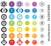 chakras icons . concept of...   Shutterstock .eps vector #363842888