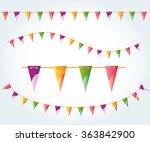 vector illustrated flag garland ... | Shutterstock .eps vector #363842900