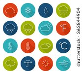 set weather icons. flat design...