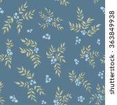 hand drawn seamless pattern... | Shutterstock .eps vector #363849938