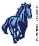 horse mascot running   Shutterstock .eps vector #363850454