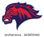angry mustang mascot | Shutterstock .eps vector #363850460