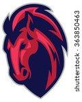 Stock vector mascot f mustang horse head 363850463