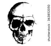 skull sketch element isolated... | Shutterstock .eps vector #363852050