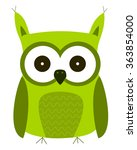 cartoon cheerful owls. | Shutterstock .eps vector #363854000