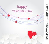 happy valentines day card.... | Shutterstock .eps vector #363854600