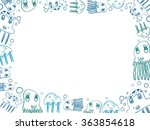 children's blue jellyfish... | Shutterstock . vector #363854618