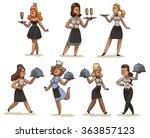 vector cartoon image of a set... | Shutterstock .eps vector #363857123