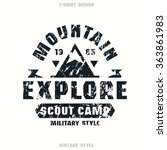 scout camp badge. graphic...   Shutterstock .eps vector #363861983