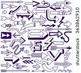 wacky doodle arrows collection. ... | Shutterstock .eps vector #363862910