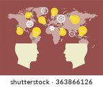two heads better. illustration...   Shutterstock .eps vector #363866126