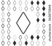 black line rhombus logo icon...