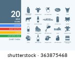 set of milk icons | Shutterstock .eps vector #363875468