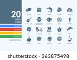 set of pizza icons | Shutterstock .eps vector #363875498