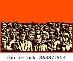mob  crowd  large group of... | Shutterstock .eps vector #363875954