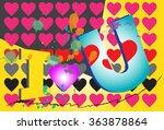 i love you text design   Shutterstock . vector #363878864