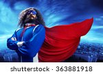 funny nerdy superman  | Shutterstock . vector #363881918