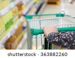 closeup woman shopping in... | Shutterstock . vector #363882260