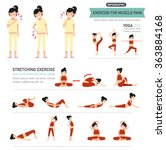exercise for muscle pain... | Shutterstock .eps vector #363884168