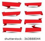 banner ribbon vector set | Shutterstock .eps vector #363888044
