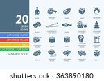 set of sushi icons | Shutterstock .eps vector #363890180