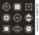 monogram luxury logo template...   Shutterstock .eps vector #363892190
