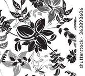 floral seamless vector pattern... | Shutterstock .eps vector #363893606