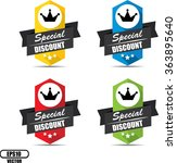 special discount label and sign ... | Shutterstock .eps vector #363895640