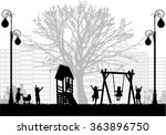 children at the playground. | Shutterstock .eps vector #363896750