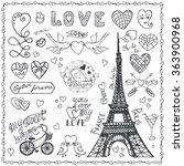 paris love.valentines day...   Shutterstock .eps vector #363900968