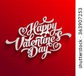 Valentin Day Happy Vector Text...
