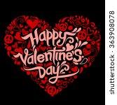 doodles valentine day ... | Shutterstock .eps vector #363908078