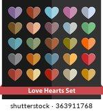 vector hearts set. love hearts... | Shutterstock .eps vector #363911768