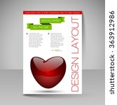 business flyer template with... | Shutterstock .eps vector #363912986