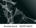 abstract polygons background  | Shutterstock . vector #363914603