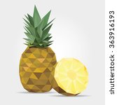 polygonal pineapple in vector | Shutterstock .eps vector #363916193