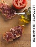 pan tumaca. bread with tomato... | Shutterstock . vector #363922964
