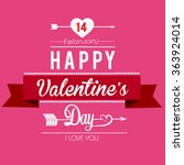 valentines day illustrations... | Shutterstock .eps vector #363924014