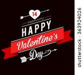 valentines day illustrations... | Shutterstock .eps vector #363924026