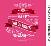 valentines day illustrations... | Shutterstock .eps vector #363924164