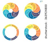 circular infographics step by... | Shutterstock .eps vector #363924800